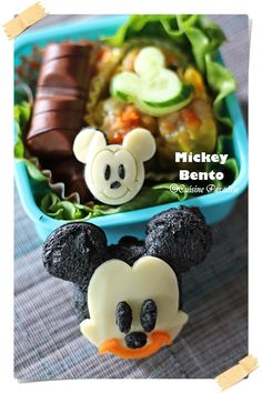 Cute Mickey Mouse Sandwich for Lunch Box:)
