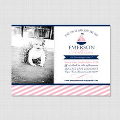 Preppy Nautical Collection Printable Birthday by sweetpeachpaperie, $14.50