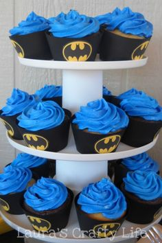 Lauras Crafty Life: Batman Cupcake Liners (and a free printable)-Tyler 2nd