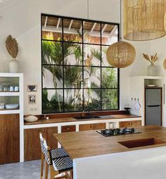 Home Decor Kitchen, Kitchen Interior, Home Kitchens, Kitchen Design, Home Design Decor, Home Interior Design, Diy Home Decor, House Design, Bali Style Home