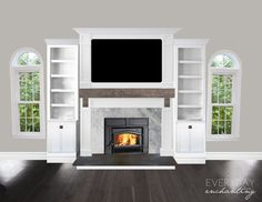 Family Room and Fireplace Plans and Progress | Everyday Enchanting