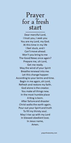 Prayer for a fresh start