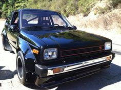 Toyota Starlet, MkII, KP61, with a TRD body kit