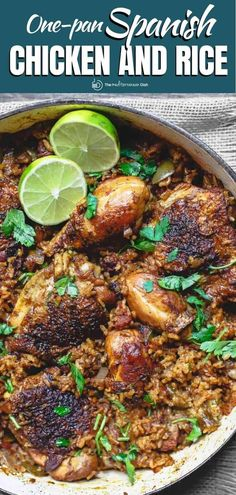 This one pan Spanish chicken and rice is a family favorite! Made with a little chorizo sausage, onions, bell peppers, and a simple seasoning with a bit of a smoky kick! Makes a great healthy dinner for your family! #chickendinner #heathyweeknightdinners #onepanmeals Chicken Rice Recipes, Chorizo Recipes, Fish Recipes, Recipies, Mediterranean Cookbook, Mediterranean Fish Recipe, Vegetarian Recipes Easy, Cooking Recipes, Cooking Ideas