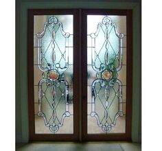 "Stained Glass Combined With Beveled Glass To Create ""Architectural Jewelry"" As A Custom Entry. Stained Glass Studio, Stained Glass Panels, Stained Glass Projects, Leaded Glass, Beveled Glass, Stained Glass Art, Etched Glass Door, Glass Front Door, Front Doors"