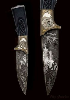 Normalde bu resimli bıçaklar bana göre değildir. Ben sadelik severim. Ama bu güzelmiş...
