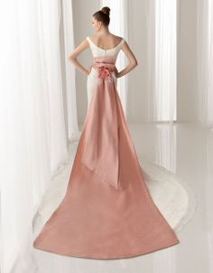 Pretty sleeveless sheath floor length wedding dress
