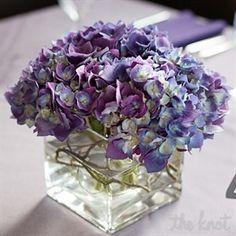 Real Flowers Weddings Purple Hydrangea