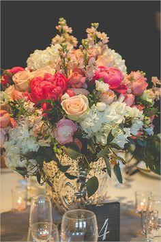 centerpiece flowers @weddingchicks
