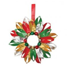 Red and Green Duck Tape Wreath