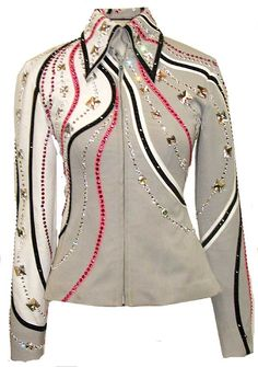 Image detail for -Soft Grey, White & Pink Showmanship :: Long Jackets & Tunics :: Show ...