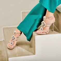 Jeweled shoes by René Caovilla: luxury Italian shoes