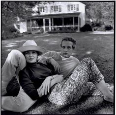 Bruce Davidson '65  Westport, CT. The American actors Paul Newman & his wife Joanne Woodward at their home