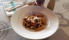 Pasta al forno con radicchio e scamorza | baked pasta with chicory and smoked cheese