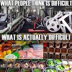 """Think what you grind out in the gym is the hardest part?! Wrong! Fitness is 20% exercise and 80% nutrition. It doesn't matter how hard you work in the gym if you don't control what you put on your plate. """"You can't outrun your fork"""" #nutrition #mealprep #24hourgrind #discipline #rachelchristinefitness"""