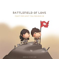 Check out the comic HJ-Story :: Battlefield of Love Love Is Cartoon, Cute Couple Cartoon, Cute Couple Art, Cute Love Cartoons, Hj Story, Cute Love Stories, Love Story, Anime Chibi, Anime Art