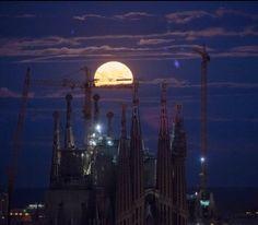 Superluna en Barcelona 2016