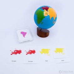 XGY6025 - Continent 3 Part Cards v1 Montessori Classroom, Classroom Activities, World Puzzle, Picture Cards, Kids House, Continents, Geography, Trading Cards, Class Activities