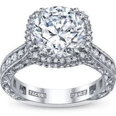 Tacori RoyalT Platinum Diamond Engagement Ring - 1/3 cttw.
