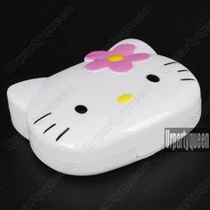 Cute Hello Kitty Shape Travel Contact Lens lenes Case Box Set £3