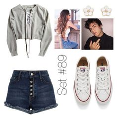 """""""No Name"""" by emma-natalie ❤ liked on Polyvore featuring River Island, Converse and Accessorize"""