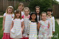 easy apron~ birthday party