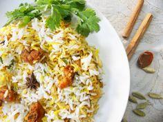 Hyderabadi Shrimp (prawns) Biriyani...step by step
