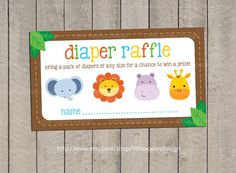 Hey, I found this really awesome Etsy listing at http://www.etsy.com/listing/128035730/baby-shower-diaper-raffle-tickets-safari