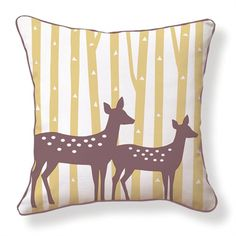 @Rosenberry Rooms is offering 10% OFF your purchase! Share the news and save! Spotted Deer Reversible Throw Pillow #rosenberryrooms