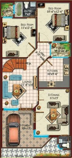 Is Video Mein Mene 25x40 House Plan G 1 Floor Plan Uska
