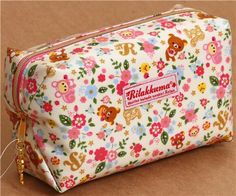 Rilakkuma bear pouch with florets from Japan