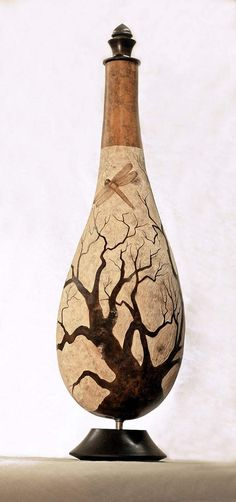 "*Gourd Art - ""Flight of the Dragon"" by Tony Browning"