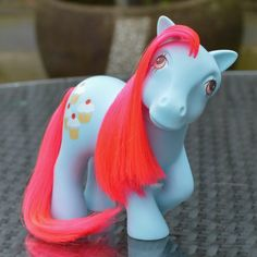 Vintage My Little Pony 'Cherry Sweet' Blue Red Cookery Pony by TeaJay, Vintage  Toy  Animal  Cookery  My Little Pony  MLP  G1  Mint  UK  Exclusive  Blue  Red  Cherry Sweet  Cupcake 1984  Icing ATCTTeam