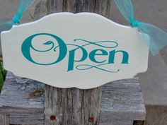 Hey, I found this really awesome Etsy listing at https://www.etsy.com/listing/464988415/open-closed-wood-vinyl-sign-two-sided