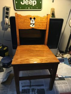 This is the Antique chair I restored and put that decal on.