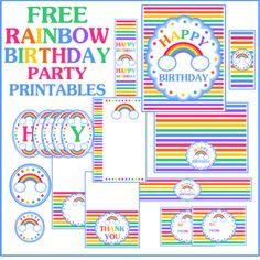 rainbow party printables