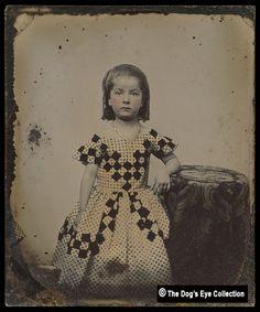 Tinted Girl's Portrait:  Ambrotype c.1860