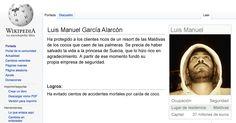 Página de parodia Wikipedia de Luis Manuel