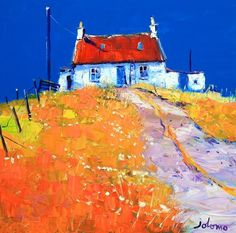 ۩۩ Painting the Town ۩۩ city, town, village & house art - Summer on Colonsay by Jolomo - John Lowrie Morrison Abstract Landscape, Landscape Paintings, House Paintings, Oil Paintings, Glasgow School Of Art, You Draw, Country Art, Art Techniques, Love Art