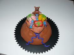 Sinterklaas taart, de zak van sinterklaas