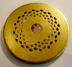 """3"""" Vented Brass Heat Vase Cap for Stained Glass Lamp Shades and Repair"""