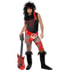 80's Rocker Men's Halloween Dress Up / Role Play Costume, Medium
