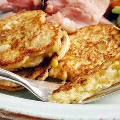 Corn and Parsnip Cakes (Parsnips are sweet and delicious) #vegetables