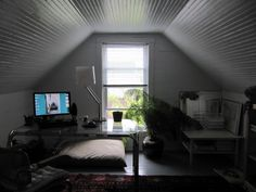 attic office - rather like this one.