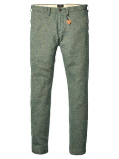 Slim Fitted Wool Dress Pants > Mens Clothing > Pants at Scotch & Soda