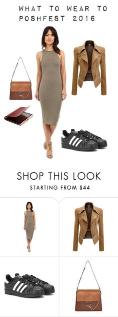 What to wear to PoshFest 2016 by mycubiclechic on Polyvore featuring Culture Phit, adidas and Chloé