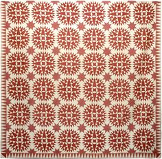 """The Tilton Family Quilt, c. 1840, Burlington County, New Jersey """"Masterpiece"""" is a word I sometimes use when speaking about the quilts ..."""
