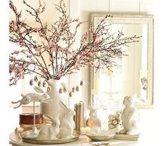 Pottery Barn knock-off eggs tutorial.....you just add the branches and bunnies of your choice to finish the look!