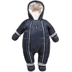 ABSORBA Navy Blue Baby Snowsuit with Mittens & Bootees
