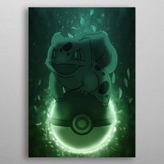 "Beautiful ""Bulbasaur - Grass Type"" metal poster created by Robin Mattsson. Our Displate metal prints will make your walls awesome. Pokemon Faces, All Pokemon, Canvas Art, Canvas Prints, Art Prints, Grass Type Pokemon, Pokemon Starters, Graffiti Wallpaper, Bulbasaur"